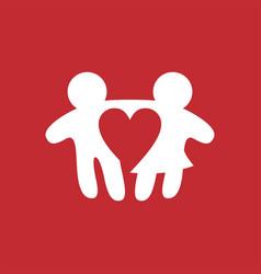man woman boy girl love straight logo icon vector image