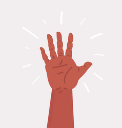 Mans hand showing number five vector
