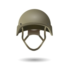 Military tactical helmet Army and police symbol vector