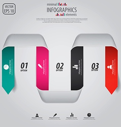 Minimal infographics option elements vector image