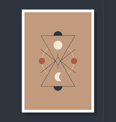 Minimalistic poster with celestial bodies poster vector