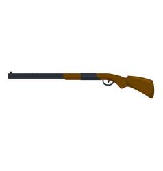 Modern hunting shotgun icon flat style vector