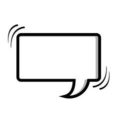Monochrome silhouette rectangle shape dialog box vector