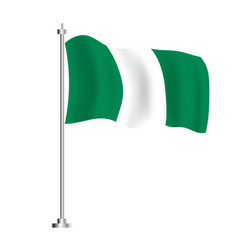 nigerian flag isolated wave flag nigeria vector image