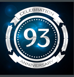 ninety three two years anniversary celebration vector image