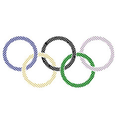 Olympic dots vector