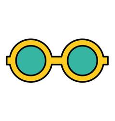 optical eyeglasses isolated icon vector image