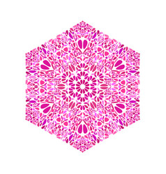 Ornate isolated abstract flower ornament hexagon vector