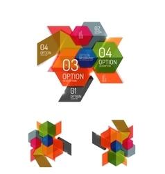 Paper infographic elements vector