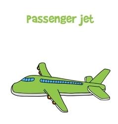 Passanger jet of cartoon design vector image