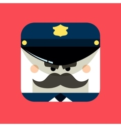 Police officer avatar Trendy vector image