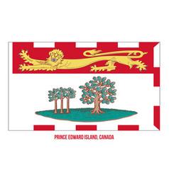 Prince edward island flag on white background vector