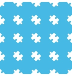 Puzzle piece straight pattern vector
