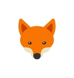 Red Fox Head Logo on White Background vector