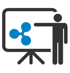 Ripple board presentation person flat icon vector