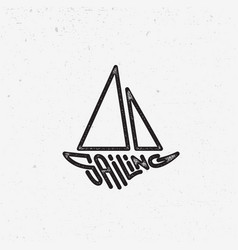sailing lettering vector image