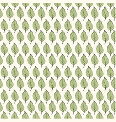 Seamless pattern green leaves on light background vector