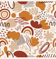 seamless pattern with abstract organic shapes vector image
