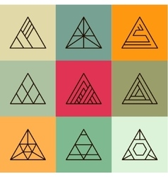 Set of geometric shapes triangles Trendy vector image
