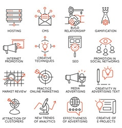 Set of icons related to business management - 32 vector