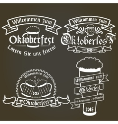 set of oktoberfest labels design elements vector image