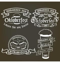 Set of oktoberfest labels design elements vector