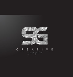 Sg s g letter logo with zebra lines texture vector