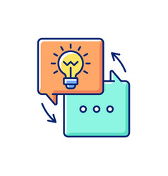 Sharing experience rgb color icon vector