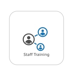 Staff Training Icon Business Concept Flat Design vector image