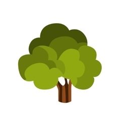 Standalone Large Tree With Green Crown Camping vector