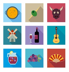 Symbols of Spain vector image