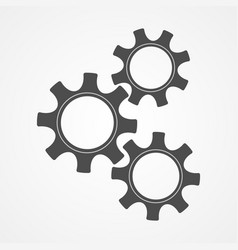 teamwork concept black contour gear and cog vector image