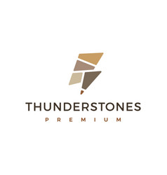 Thunder stone stones logo icon vector