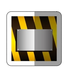 Traffic barrier with metallic plate vector