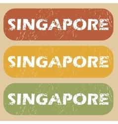 Vintage Singapore stamp set vector