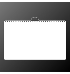 Calendar sheet of paper on a black background vector image