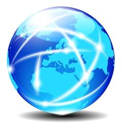 Europe Global Communication vector image vector image