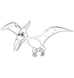 outline animal for pterosaur vector image vector image