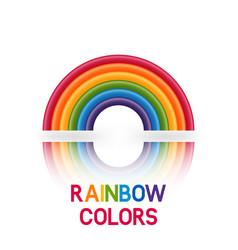 rainbow symbol six colors vector image