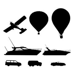Transport silhouette vector image vector image
