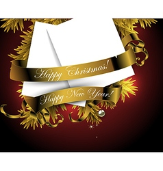 Happy christmas and new year design vector image vector image