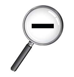 magnifying glass minus vector image vector image