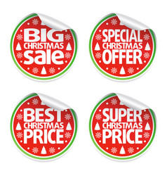 set of christmas sale stickers vector image