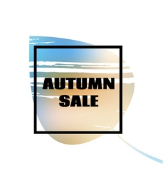 Text autumn sale on leaf background vector image