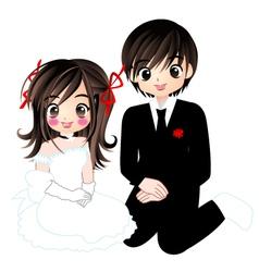 wedding 006 vector image