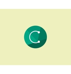 Abstract letter C logo design template Dot line vector image vector image