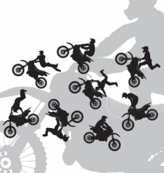 motocross rider jump vector image vector image