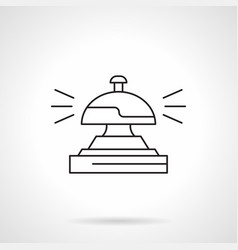 reception bell flat line icon vector image
