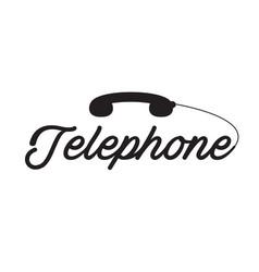 telephone black phone white background imag vector image