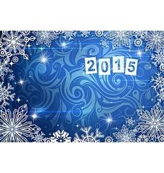 2015 year greeting card vector image vector image
